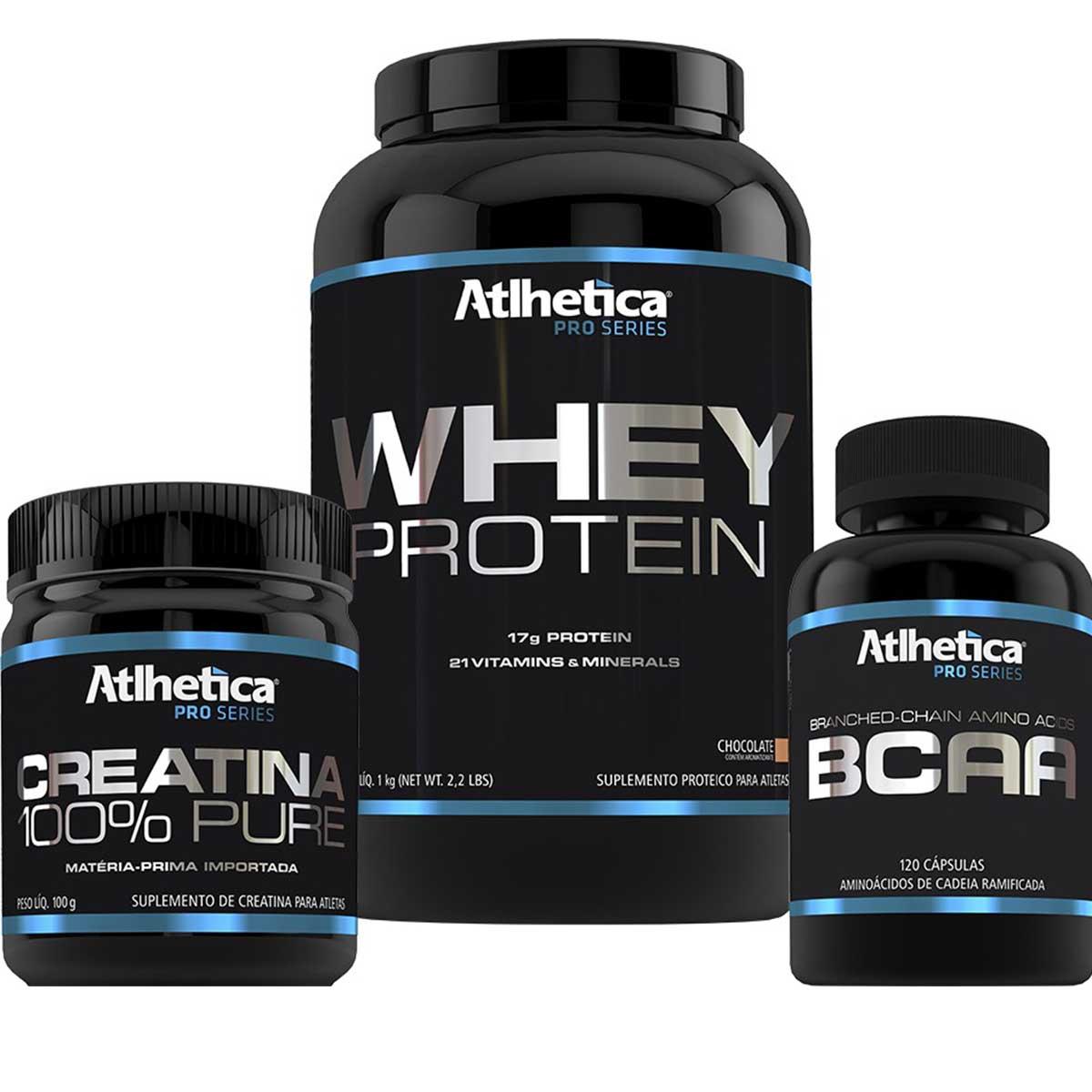 combo whey protein creatina bcaa